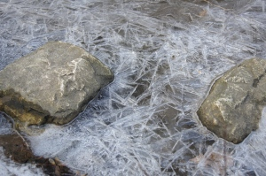 Ice crystals w rocks