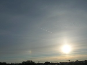 A February sundog and ring