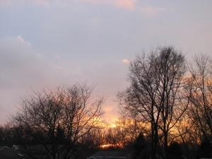 A sunset...