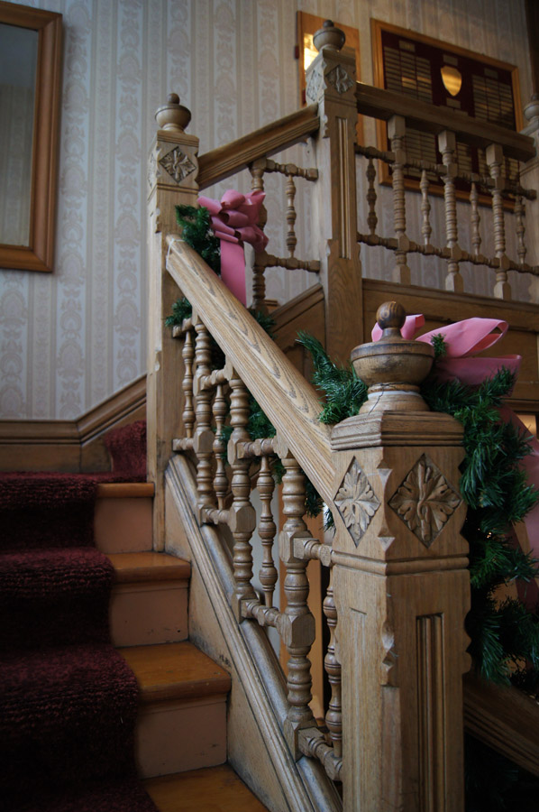 The carvings on the newel posts was very fine