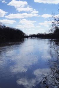 Facing downstream to the Rt. 173 bridge.