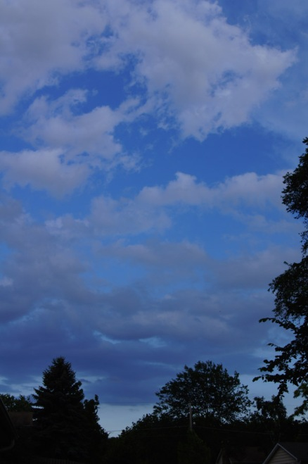 I love the gradient blue in this, with the gradient grays of the clouds in reverse!