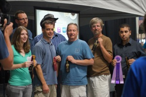 Winners of the newly created video classes (the hubby is second from the right)