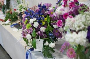 Winner of a floral arrangement class