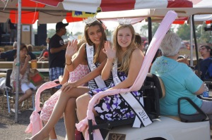 The Fair Queens, greeting their subjects