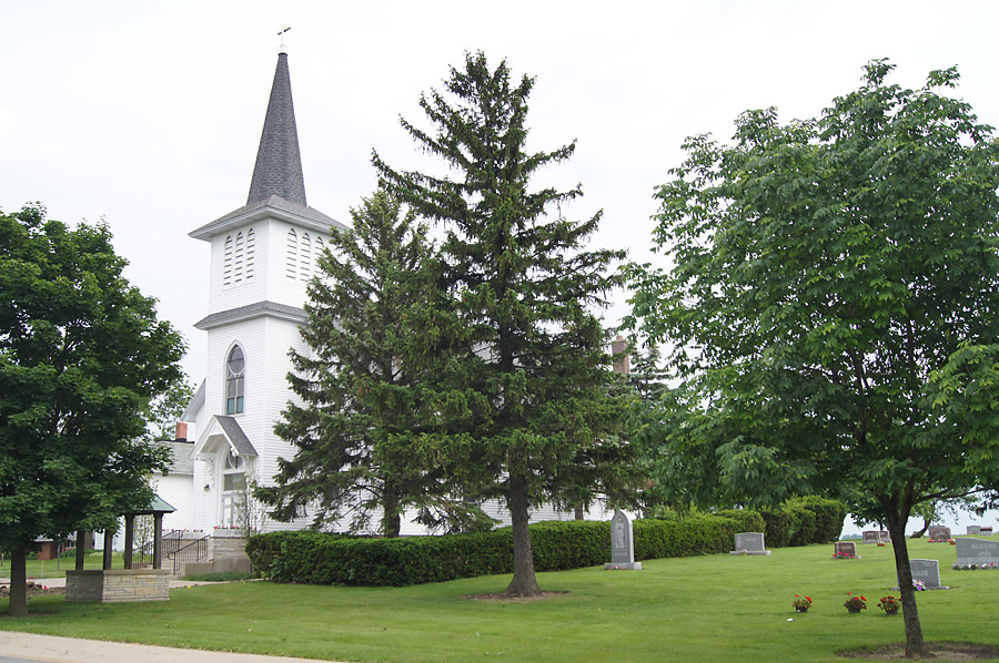 The St. Mary's Catholic Cemetery is just to the right of the church there, dating back to the mid-1800s.