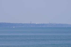 That red tower is located on the navy base in North Chicago