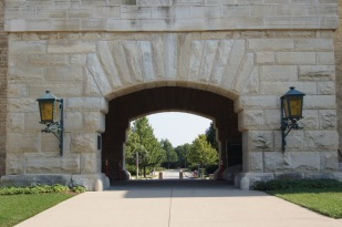 Sheridan Road used to run under this arch.