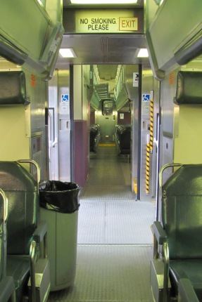 A Metra train
